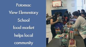 food market, Potomac View Elementary School