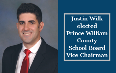 Justin Wilk, school board, vice chair