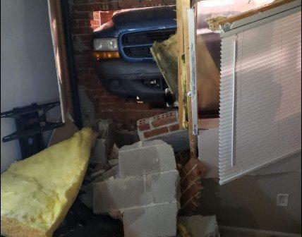 OWL VFD, car crash into house