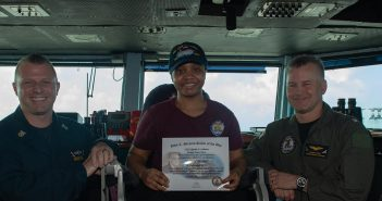 US Navy, sailor of the Day, Ayesha Coleman, USS John C. Stennis