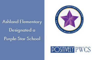 Ashland Elementary, PWCS, Purple Star School