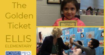 Ellis Elementary, PWCS. Golden Ticket