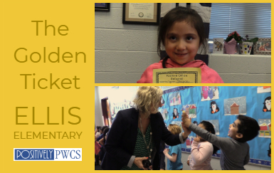 Ellis Elementary, PWCS. Golden Ticket