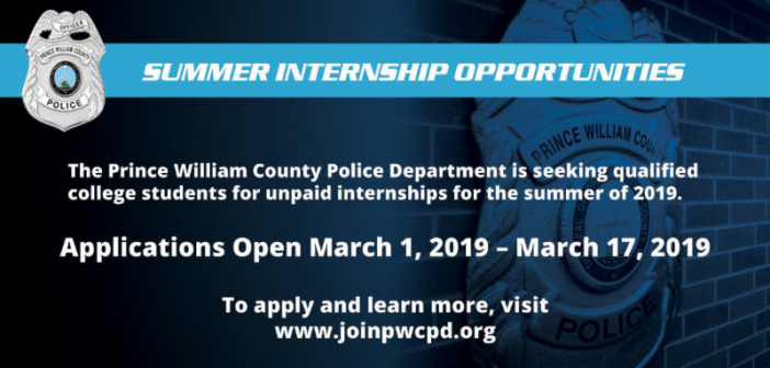 summer internstips, police, Prince William County Police