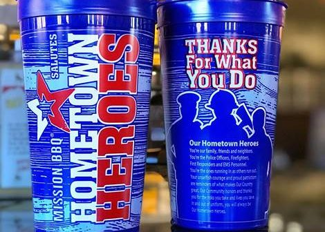 MISSION BBQ, hometown heroes cups