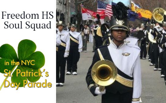 Soul Squad, Freedom High School, NYC St Patricks Parade