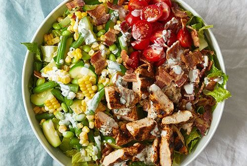 pampered chef, BBQ Chopped Chicken salad