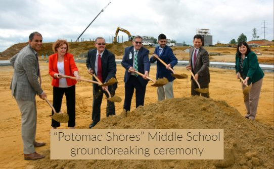 Potomac Shores middle school, PWCS, grondbreaking