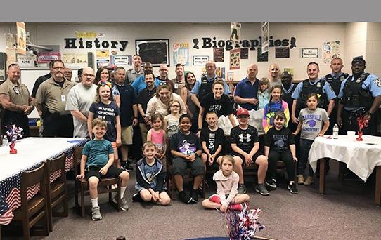 First Responders' Breakfast at Marshall Elementary School