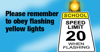 PWCS, flashing yellow lights