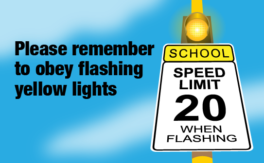 PWCS, flashing yellow lights
