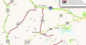 VDOT, Route 29 closure