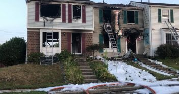 townhouse fire in Woodbridge
