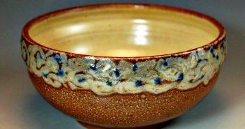 Marianne Cordyack, bowl, salt-fired, artists underaking