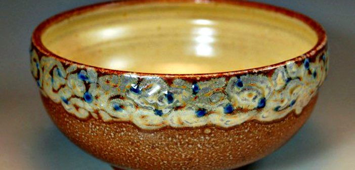 Marianne Cordyack, bowl, salt-fired, artists underaking