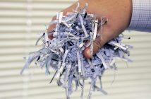 handful of shredded paper