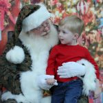 feature 1219, Abram Baity with Santa Claus