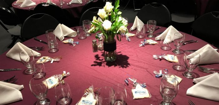 business awards, table, banquet