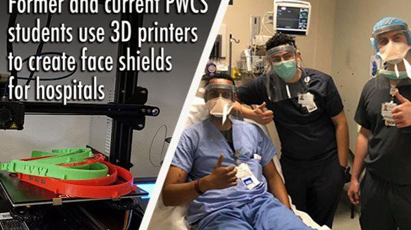 face shields, PWCS