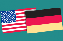 US and German flags