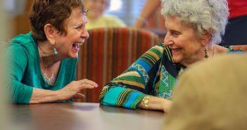 laughing senior women, Harmony