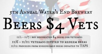 BEERS $4 Vets, Waters End Brewery
