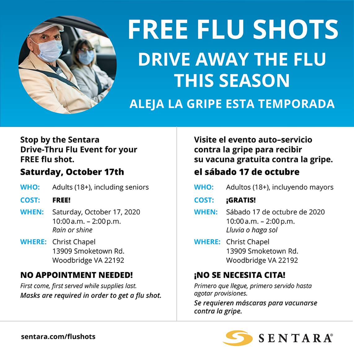 sentara flu shot clinic