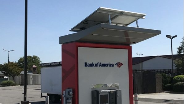 Bank of America, solar powered ATM