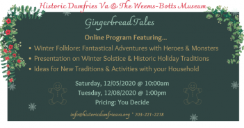 Historic Dumfries, gingerbread tales