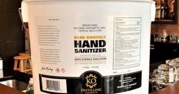 Bare Knuckle Hand Sanitizer, KO Distilling