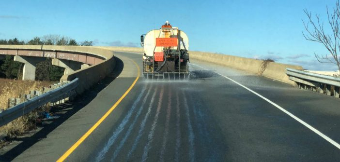 pre-treating roads for snow