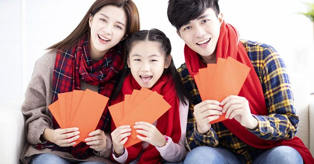Chinese new year, Asian family