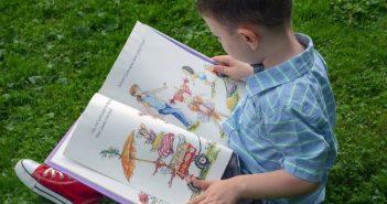 boy reading, family fun 0321