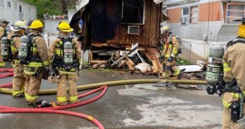 fire at Marumsco mobile home park