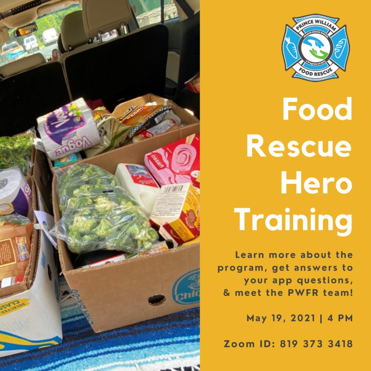 food rescue hero training