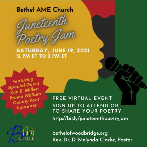 Bethel AME, poetry jam, Juneteenth