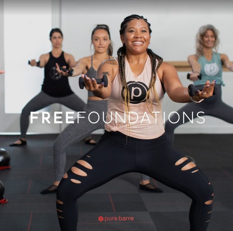 Pure Barre, free foundations class