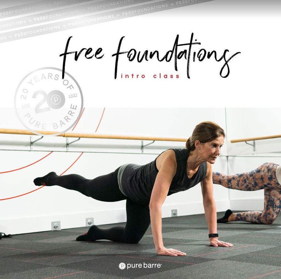 Pure Barre Woodbridge, free foundations class