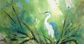 Blue Heron Splash, ARTfactory