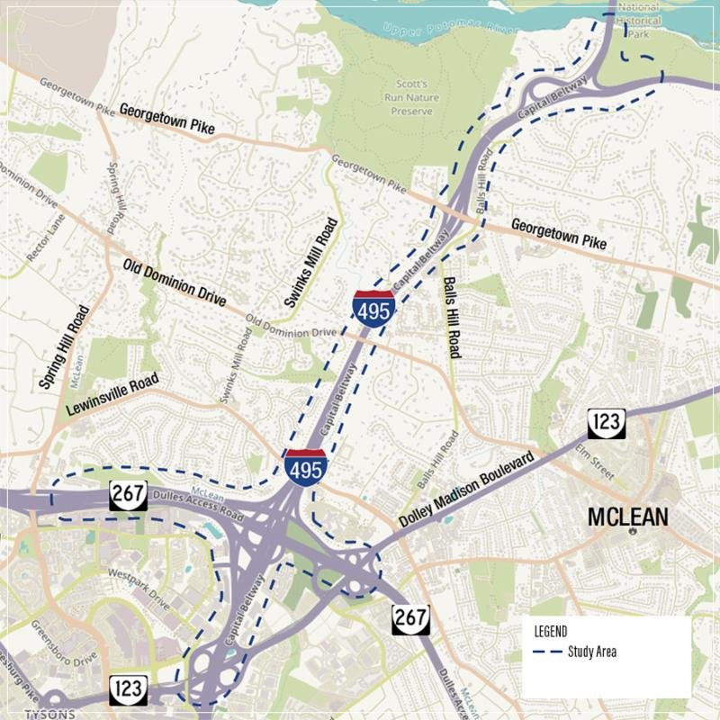 495 northern extension, VDOT