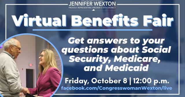virtual benefits fair, Rep. Wexton