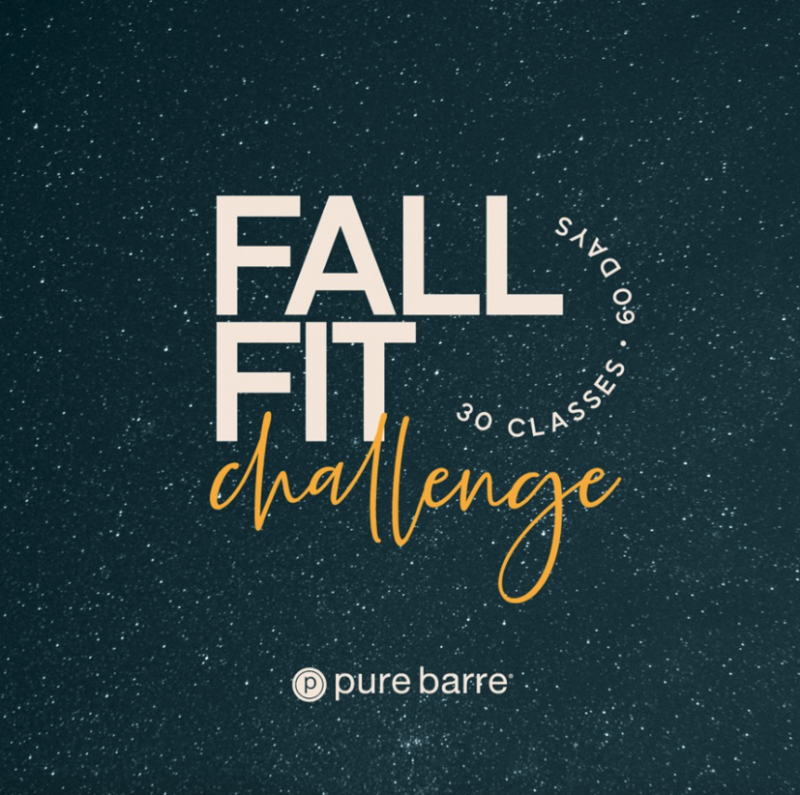 pure barre fall fit challenge