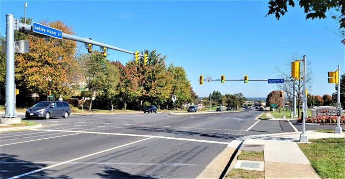 traffic signal. intersection